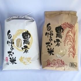 令和元年産『夢しずく』『さがびより』食べ比べセット 玄米各10kg 計20kg