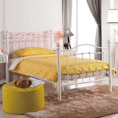 凱特兒3.5尺白色鐵床床架/H&D東稻家居-消費滿3千送點數10%