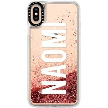 CASETiFY iPhone Xs Max ケース 名前入りキラキラ ケース イニシャルグリッターケース ケース 名前 ケース 名前