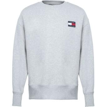 《期間限定セール開催中!》TOMMY JEANS メンズ スウェットシャツ グレー S コットン 100% TJM TOMMY BADGE CREW