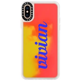 CASETiFY iPhone Xs ネオンサンドケース