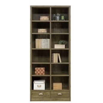 本棚 完成品 幅82cm 完成品 書棚 キャビネット  木製 国産 アンティーク調 リビングボード