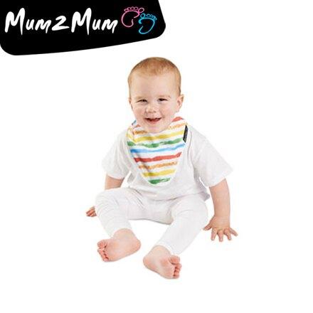 Mum 2 Mum 雙面竹纖維棉機能口水巾圍兜-彩紅/星星【悅兒園婦幼生活館】【618購物節】