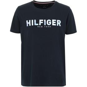 《期間限定セール開催中!》TOMMY HILFIGER メンズ T シャツ ダークブルー S オーガニックコットン 100% HILFIGER APPLIQUE TE