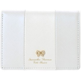 サマンサタバサプチチョイス リボンストーンモチーフシリーズ バイカラーバージョン ミニ財布 ライトブルー