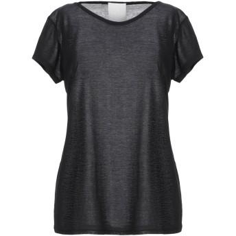 《セール開催中》GOTHA レディース T シャツ ブラック 0 コットン 65% / シルク 35%
