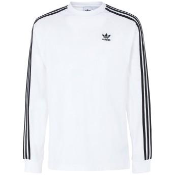 《期間限定セール開催中!》ADIDAS ORIGINALS メンズ T シャツ ホワイト S コットン 100% 3-STRIPES LS T