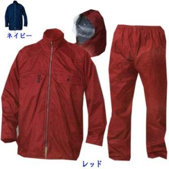 [マック] カッパ 合羽 レインスーツ テフロン撥水 防水 耐水圧20000mmH2O NEW スーパーマック 裏メッシュ AS-4900(ネイビー M)