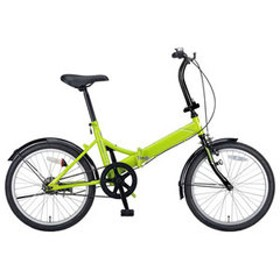 キャプテンスタッグ 折りたたみ自転車 20インチ シングルギア(グリーン) CAPTAIN STAG CUENTO(クエント)FDB201 YG-0326 【返品種別B】