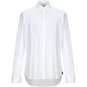 《セール開催中》MANUEL RITZ メンズ シャツ ホワイト 44 コットン 98% / ポリウレタン 2%