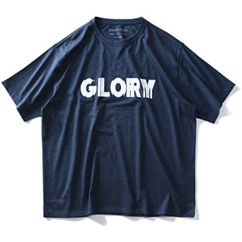 DANIEL DODD 半袖 Tシャツ オーガニック プリント 半袖Tシャツ GLORY azt-190228 大きいサイズ メンズ【115.杢ブルー-5L】