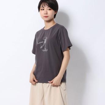 レトロガール RETRO GIRL girlsプリントTee (ダークグレー)