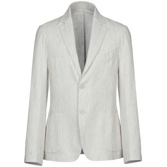 《期間限定セール開催中!》LUCA BERTELLI メンズ テーラードジャケット ライトグレー 50 コットン 50% / 麻 50%
