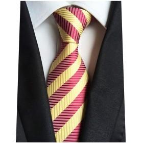 ネクタイ 赤 ストライプ 黄色 赤 結婚式 シルク メンズ おしゃれ フォーマル 柄 ビジネス 面接 就活 2次会 パーティー 洗濯 流行 ゴールド