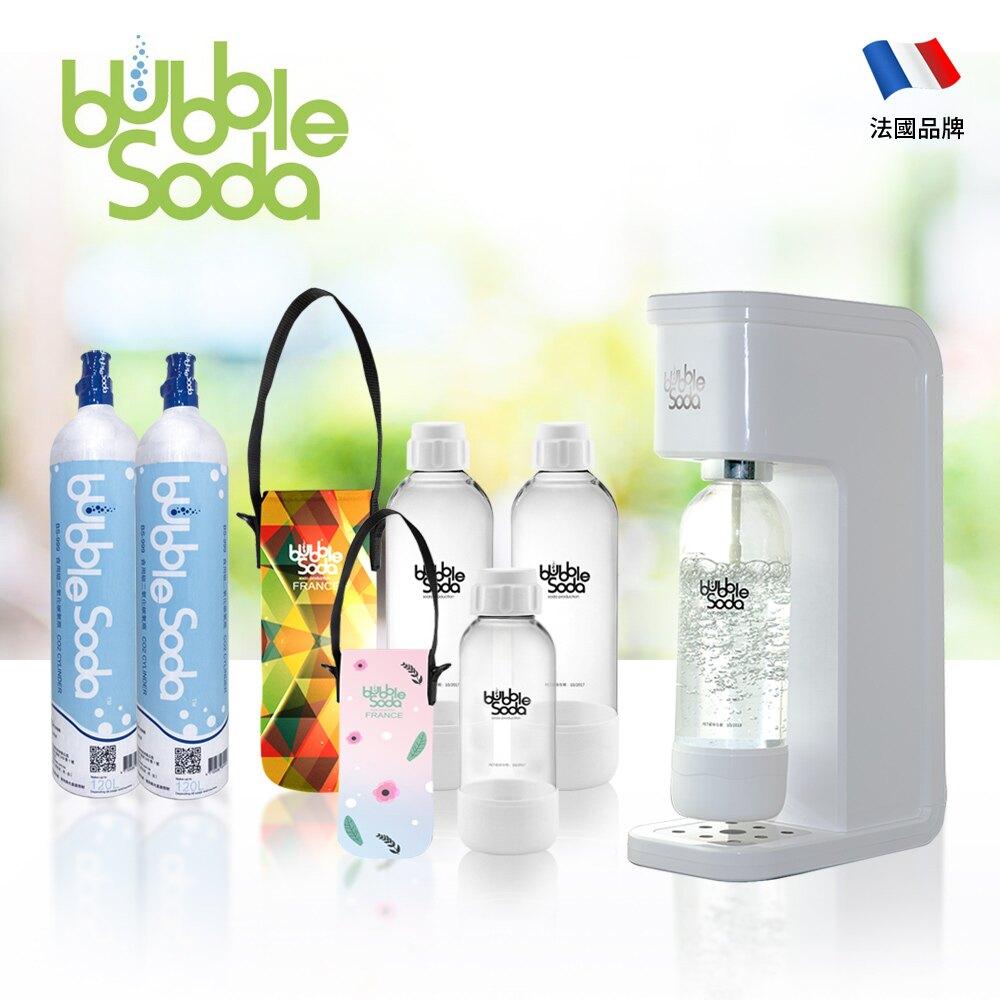 BubbleSoda 全自動氣泡水機 經典白大氣瓶組合 BS-909KTB2