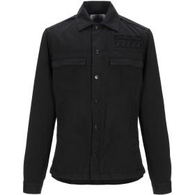 《期間限定セール開催中!》DONDUP メンズ シャツ ブラック 46 コットン 96% / ポリウレタン 4%