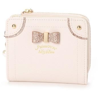 プリムヴェールリズリサ Primevere LIZ LISA ケイトシリーズ ゴールドリボン付二つ折り財布 (ホワイト)