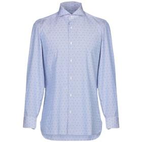 《期間限定 セール開催中》GIAMPAOLO メンズ シャツ ブルー 38 コットン 100%