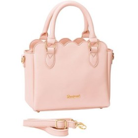 35%OFFスカラップ2WAYショルダーバッグ - セシール ■カラー:ピンク