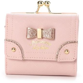 プリムヴェールリズリサ Primevere LIZ LISA ケイトシリーズ ゴールドリボン付三つ折り財布 (ピンク)