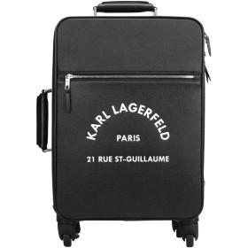 《期間限定セール開催中!》KARL LAGERFELD レディース キャスター付きバッグ ブラック ポリ塩化ビニル 92% / 牛革 4% / ポリウレタン 4% RUE ST GUILLAUME TROLLEY