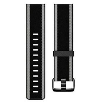 Fitbit Versa/VersaLite 専用 ウーブンハイブリッドバンド FB166WBBKGYS ブラック/グレー Sサイズ
