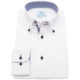 (ブルーム) BLOOM オリジナル 長袖 ワイシャツ ボタンダウン 形態安定 5 L