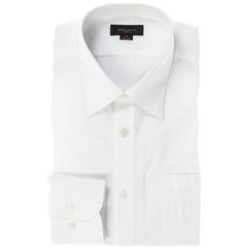 (TAKA-Q/タカキュー)形態安定スリムフィット レギュラーカラー長袖シャツ/メンズ ホワイト