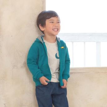 [キッズ]シンプルフリー パーカー グリーン ベビー・キッズウェア キッズ(100~120cm) はおりもの・コート(男児) (16)