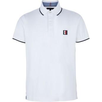 《セール開催中》TOMMY HILFIGER メンズ ポロシャツ ホワイト S コットン 100% SOPHISTICATED JERSEY