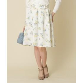 Couture Brooch(クチュールブローチ) ◆【WEB限定サイズ(S・LL)あり】サッシュつきフラワーフレアスカート