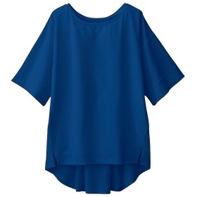 GeeRA バックレースアップBIGシルエットトップス ブルー M レディース 5,000円(税抜)以上購入で送料無料 カットソー Tシャツ 夏 レディースファッション アパレル 通販 大きいサイズ コーデ 安い おしゃれ お洒落 20代 30代 40代 50代 女性 トップス