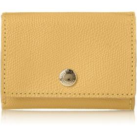 [トプカピ] 角シボ型押し・三つ折りミニ財布 COLORATO コロラート レモンイエロー One Size