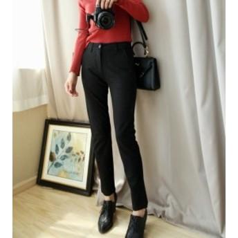細身パンツで美効果抜群★通勤にも◎ ハイウエスト スキニー 韓國 オルチャン ファッション 韓國 風 レディース ファッショ
