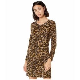 ニコルミラー レディース ワンピース トップス Furry Leopard Long Sleeve Dress Multicolor