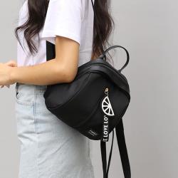 Acorn*橡果-日系艷彩檸檬吊飾防水迷你後背包貝殼包6584(黑色)