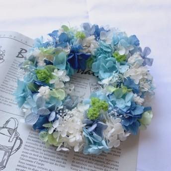 プリザーブドリース ~natural blue