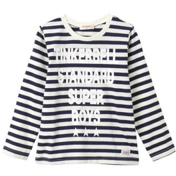 【ティンカーベル】先染めボーダー天竺長袖Tシャツ(男の子 子供服) Tシャツ・カットソー