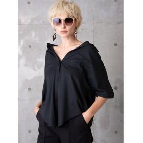 ミエリインヴァリアント Draping Silky Shirt レディース ブラック F(フリーサイズ) 【MIELIINVARIANT】