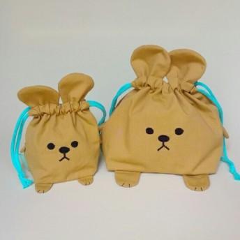茶色いクマのお弁当袋コップ袋セット