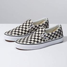 [(バンズ)Vans] ユニセックススケート靴・スニーカー BLUR CHECK Slip On ブルーチェックスリッポン Black/Classic White ブラック/ホワイト M:12, W:13.5 (メンズ30cm, レディース30.5cm) [並行輸入品]