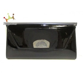 クリスチャンルブタン クラッチバッグ 美品 黒 2way/チェーンショルダー エナメル(レザー)  値下げ 20190803