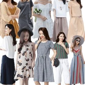 2019新作☆ワンピース /マキシワンピース/韓国ファッションレディースワンピース/ シャツワンピース /ワンピース 夏 /ロングワンピース/リネンワンピース