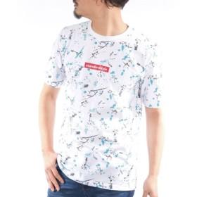 総柄プリント半袖Tシャツ Tシャツ・カットソー