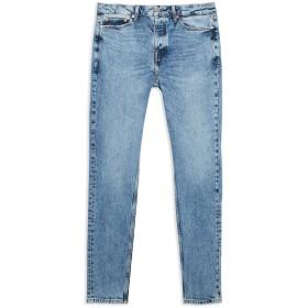 《期間限定 セール開催中》TOPMAN メンズ ジーンズ ブルー 30W-32L コットン 99% / ポリウレタン 1% LIGHT WASH AUTHENTIC STRETCH SKINNY JEANS