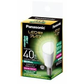 パナソニック LED電球 プレミア 口金直径17mm 電球40W形相当 昼白色相当(4.0W) 小型電球・全方向タイプ 1個入 密閉形器具対応 LDA4NGE17Z
