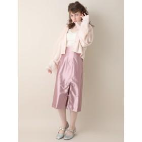 【6,000円(税込)以上のお買物で全国送料無料。】リボンスリットスカート