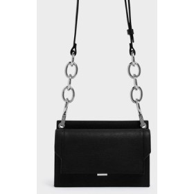 【2019 FALL 新作】アイレットディテール プッシュロッククロスボディバッグ / Eyelet Detail Push-Lock Crossbody Bag (B