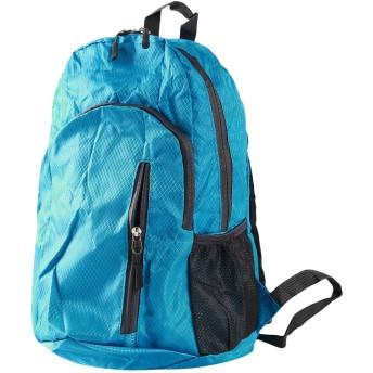 HKUN バックパック 折りたたみ 旅行バッグ 登山リュック 通気性抜群 軽量 防水 普段用 旅行 ブルー