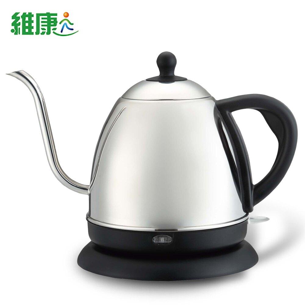 (促殺↘)【維康】長嘴細口不鏽鋼咖啡壺電茶壺1公升WK-1000